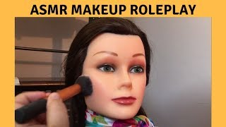 ASMR Makeup Roleplay on Mannequin/Doll Face - Whispering thumbnail