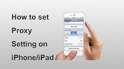 How to set Proxy Setting in iPhone/iPad