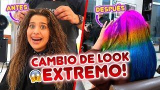 CAMBIO DE LOOK EXTREMO!!😱 PELO DE ARCOIRIS!!🌈 | Leyla Star 💫