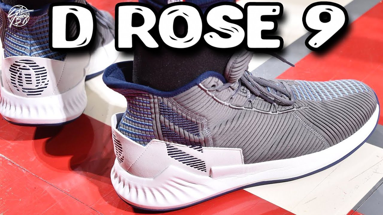 brand new 4928b 1f4fa Derrick Rose Playing in the Adidas D Rose 9!