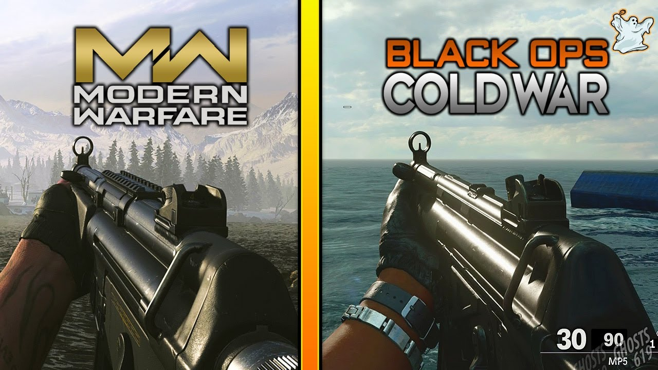 Modern Warfare Vs Black Ops Cold War Gun Sounds And Animation Comparison Ghosts619 Youtube
