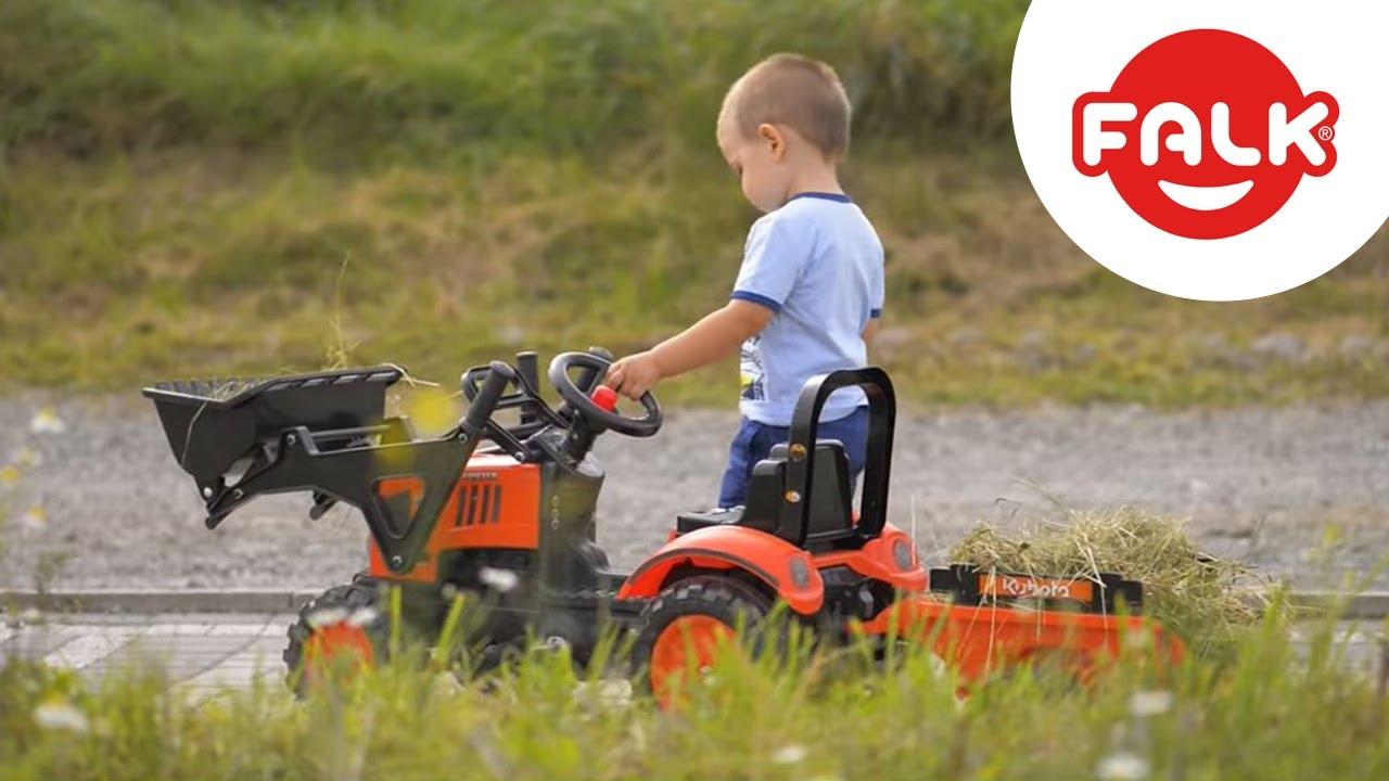 Tracteur enfant kubota falk 2065am 2065ab youtube - Tracteur remorque enfant ...