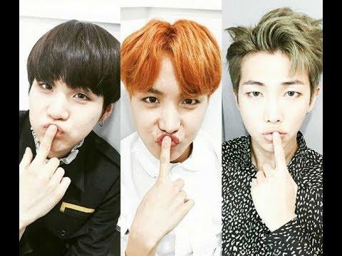 Rapper Line (Suga, RM, J-Hope) Sing Compilation Funny Part 2