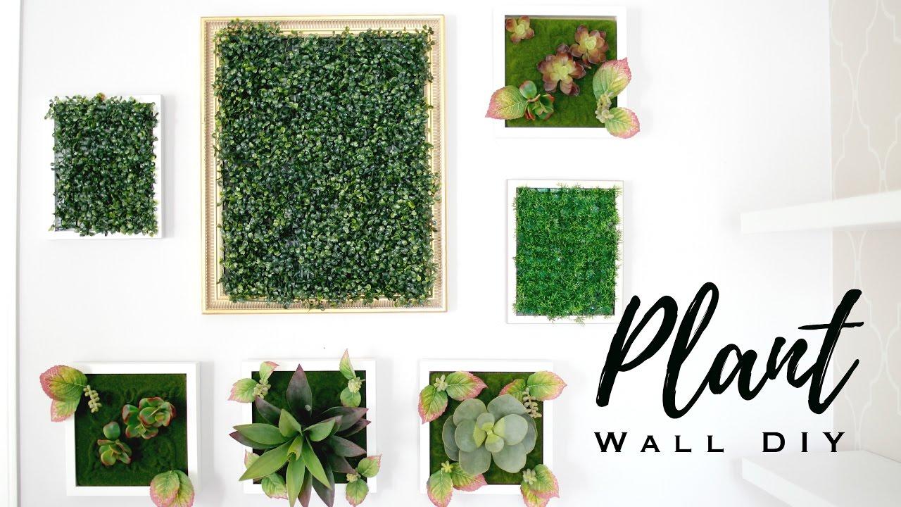 Diy Faux Plant Wall Art Youtube