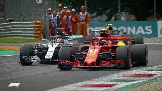 Raikkonen and Hamilton's Epic Monza Fight | F1 Best Overtakes of 2018