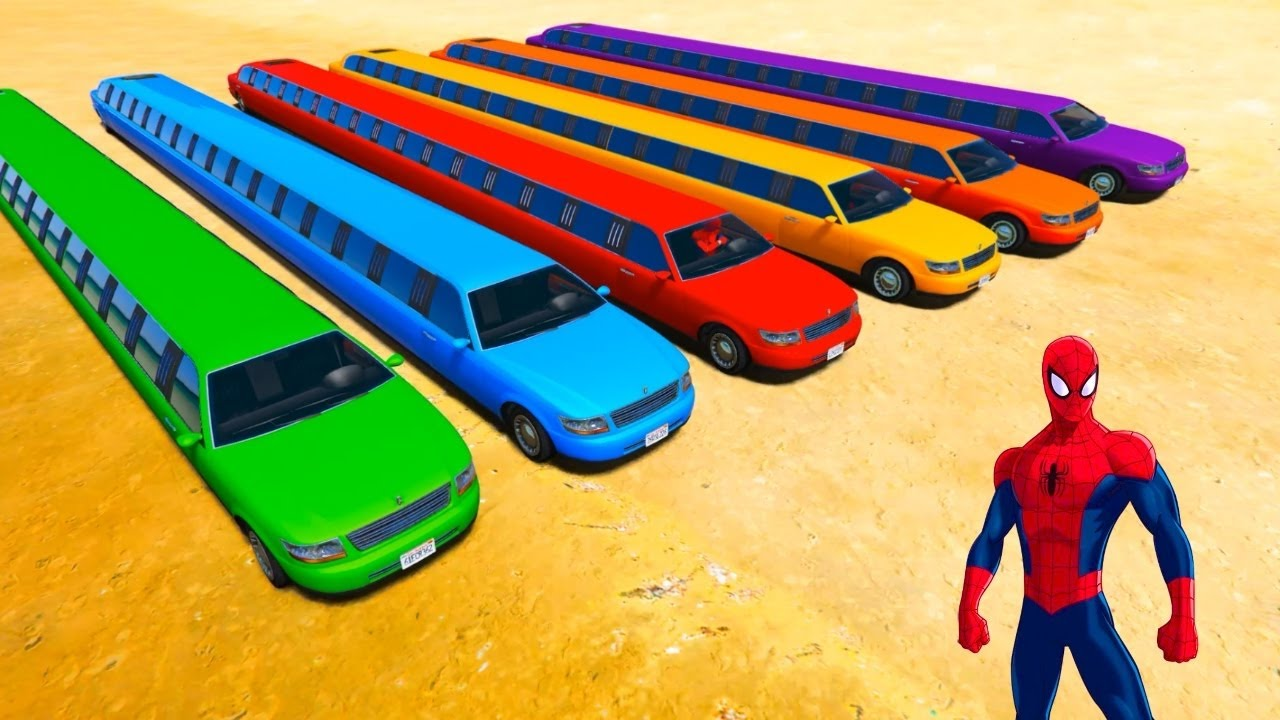 farben lkw und lange autos fahrzeuge spiderman karikatur lieder f r kinder youtube. Black Bedroom Furniture Sets. Home Design Ideas