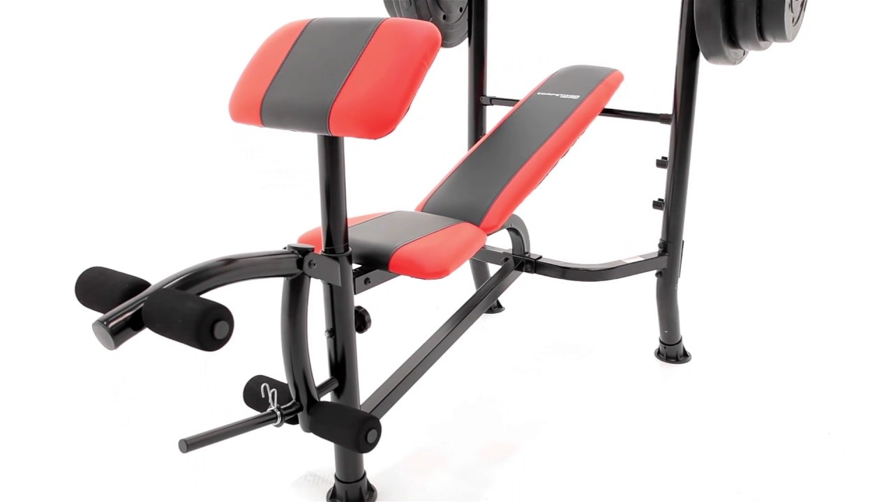 Marcy Weight Bench 100lb Weight Set CB2982 YouTube