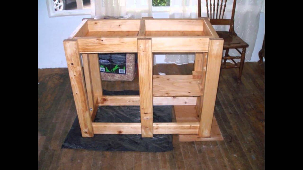 Laura builds a 40 gallon Fish Tank aquarium Stand diy ... 10 Gallon Fish Tank Stand