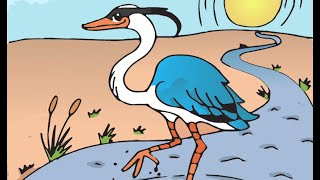 How to Draw a Great Blue Heron - Time Lapse
