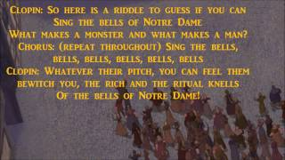 "The Bells of Notre Dame (Reprise) (w/ lyrics) From Disney's ""The Hunchback of Notre Dame"""