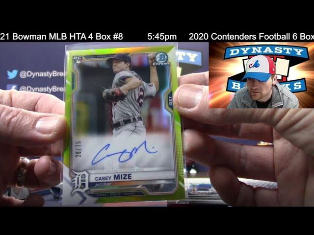 2021 Bowman Baseball Card Jumbo HTA 4 Box Half Case Break #8   Sports Cards