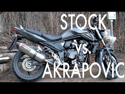 Suzuki GSF 1250 Akrapovic S12SO3-HRT exhaust sound