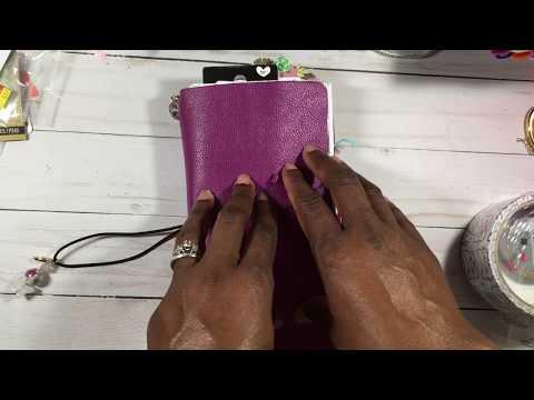 New Sizzix Journal (Travelers Notebook die) and TN bible Journaling flip thru