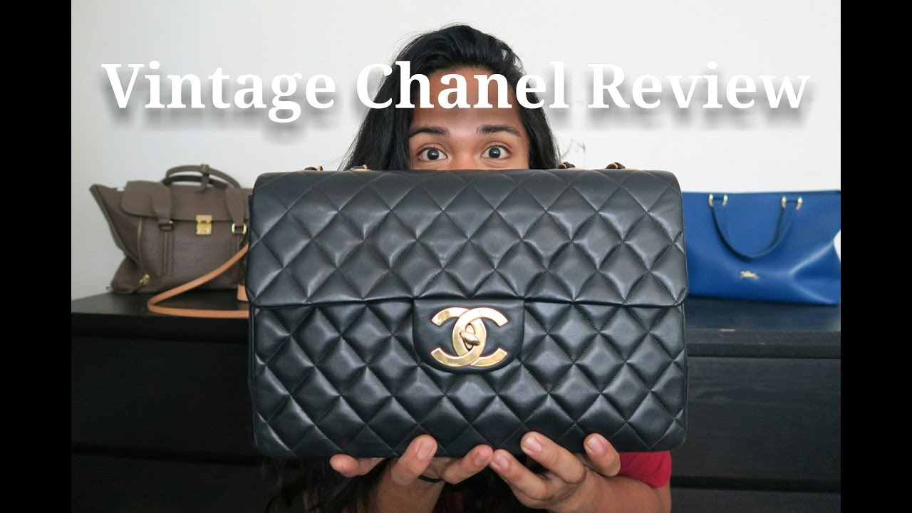 02dcc7df67d2 Handbag Review | Vintage Chanel Maxi or Jumbo XL with 24k GHW - YouTube