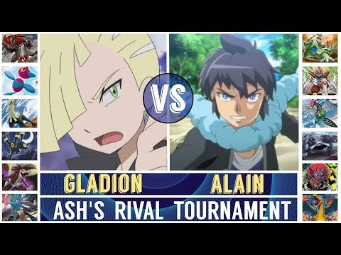 Gladion vs. Alain (Pokémon Sun/Moon) - Ash's Rival Tournament/Semifinal