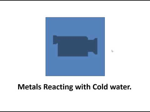 Metals Reacting With Cold Water