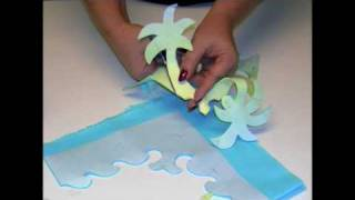 2 for 1 Hula Lessons, a technique for cutting Hawaiian Appliqué