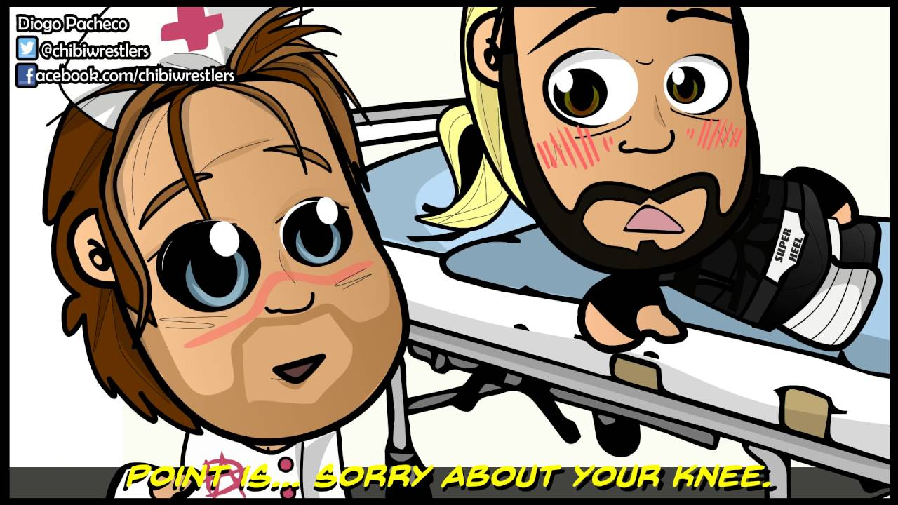 Chibi Wrestlers - HappyScary Dean Ambrose and Seth Rollins #28 Sell-Out Seth's Recovery (WWE Parody)