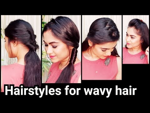 Quick Easy Hairstyles for WAVY HAIR//indian Hairstyles for school/college for medium long hair