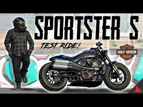Harley-Davidson Sportster S TEST RIDE!