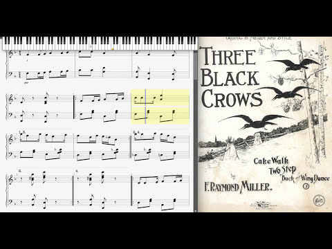 3 Black Crows by Raymond Miller (1899, Ragtime piano) mp3