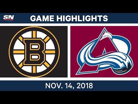 NHL Highlights | Bruins vs. Avalanche – Nov. 14, 2018