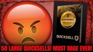 OMG 50 LARGE QUICKSELLS! MOST RAGE EVER! BIGGEST L EVER! | MADDEN 17 ULTIMATE TEAM