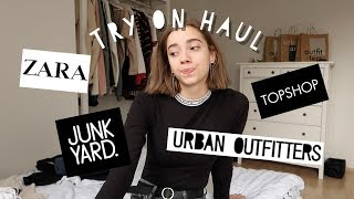 TRY ON HAUL | Urban Outfitters, Zara, Topshop, Junkyard