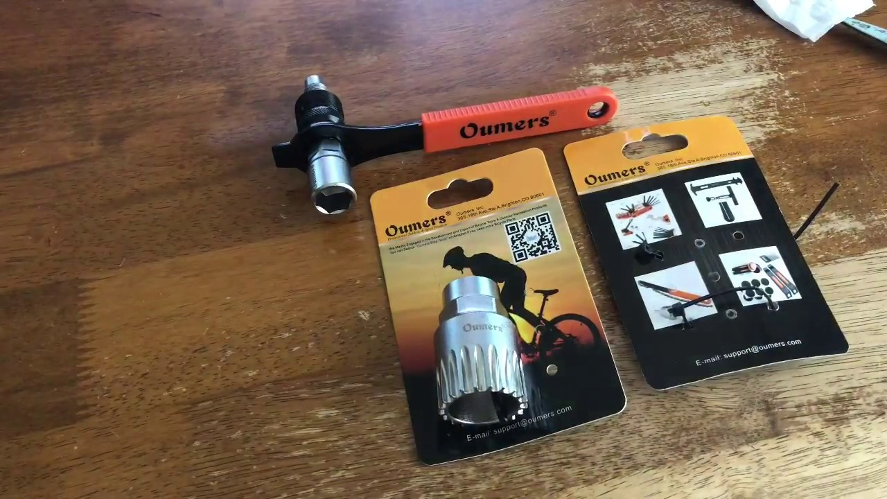 Oumers Bike Crank Extractor and Bottom Bracket Remover with 16mm Spanner Wren...