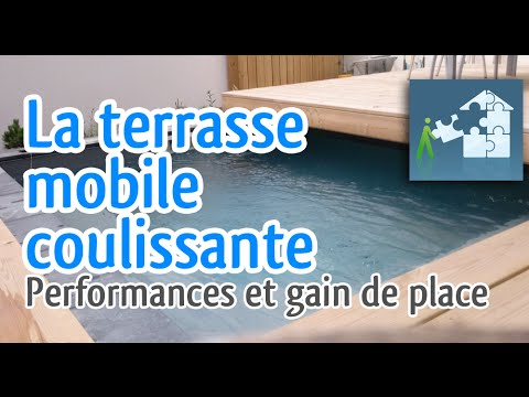 terrasse mobile coulissante piscine d monstration et. Black Bedroom Furniture Sets. Home Design Ideas