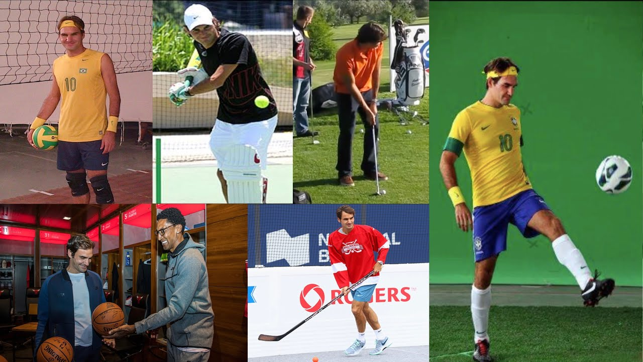 Roger Federer Playing Other Sports - YouTube
