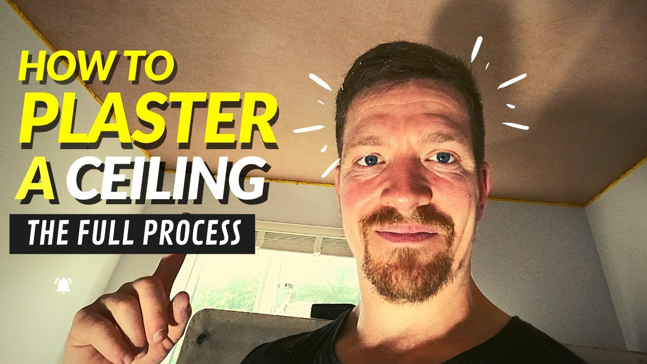 How To Plaster A Ceiling (COMPLETE BEGINNERS GUIDE)