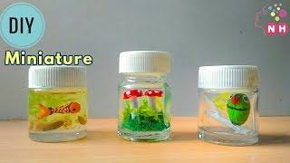 3 DIY Miniatures in empty color bottles