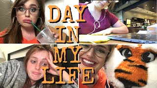 Day in my College Life | not working out, another test, & work