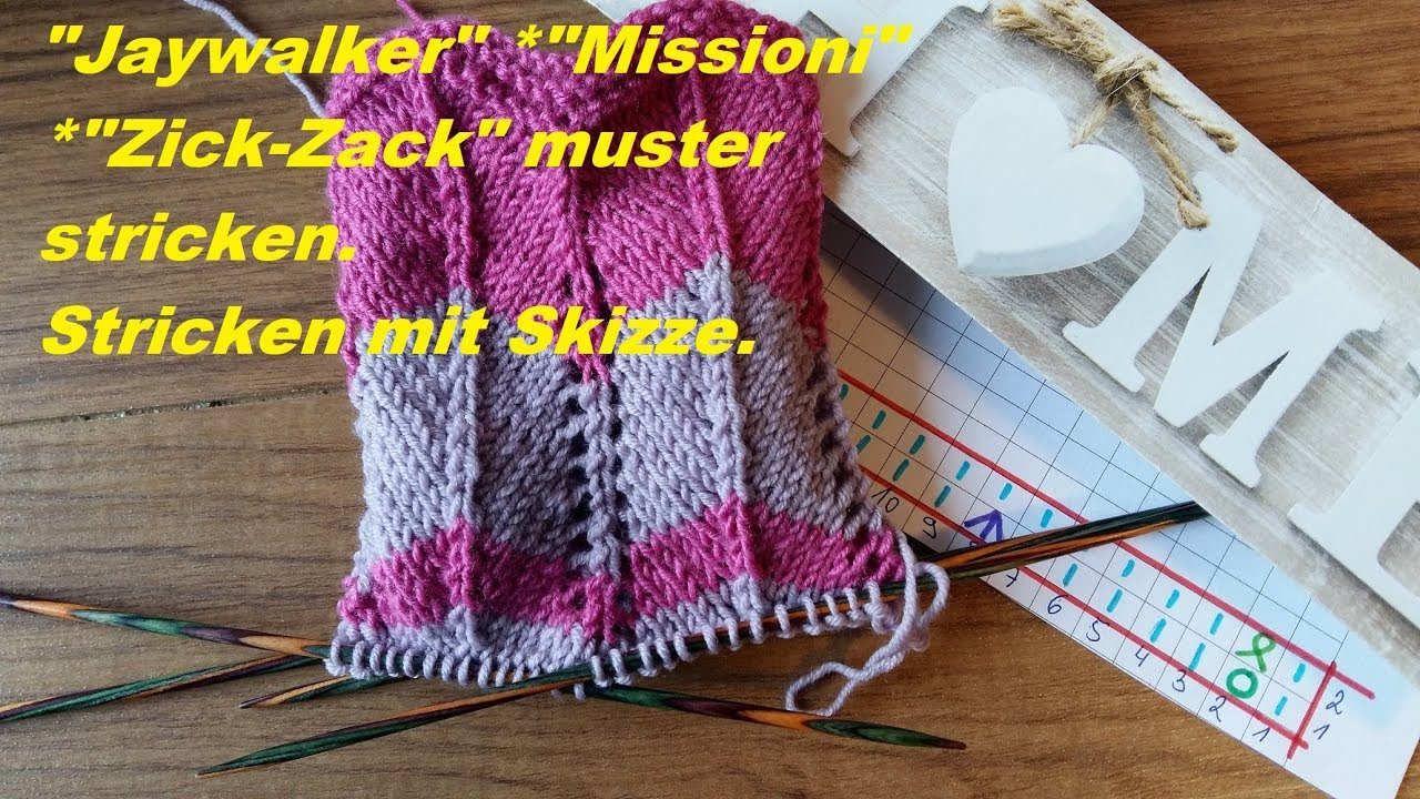 Strickanleitung Fur Socken Im Zick Zack Muster Gr 40 41