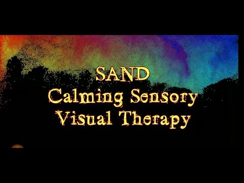 """Autism """"SAND"""" Sensory Visual Therapy Calming Relaxation"""