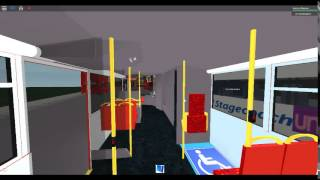 Roblox on Enviro 400 on Route 135 UNO bus from Mudchute to Crossharbour