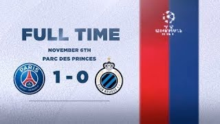 VIDEO: PARIS SAINT-GERMAIN 1 - 0 CLUB BRUGGE : QUALIFIED !