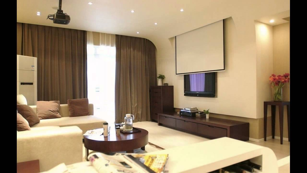 Living room projector youtube for Living room setups for apartments