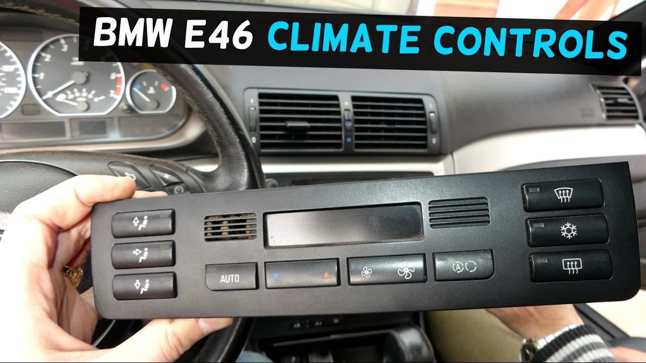 small resolution of bmw e46 climate control ac a c heater control button removal replacement youtube