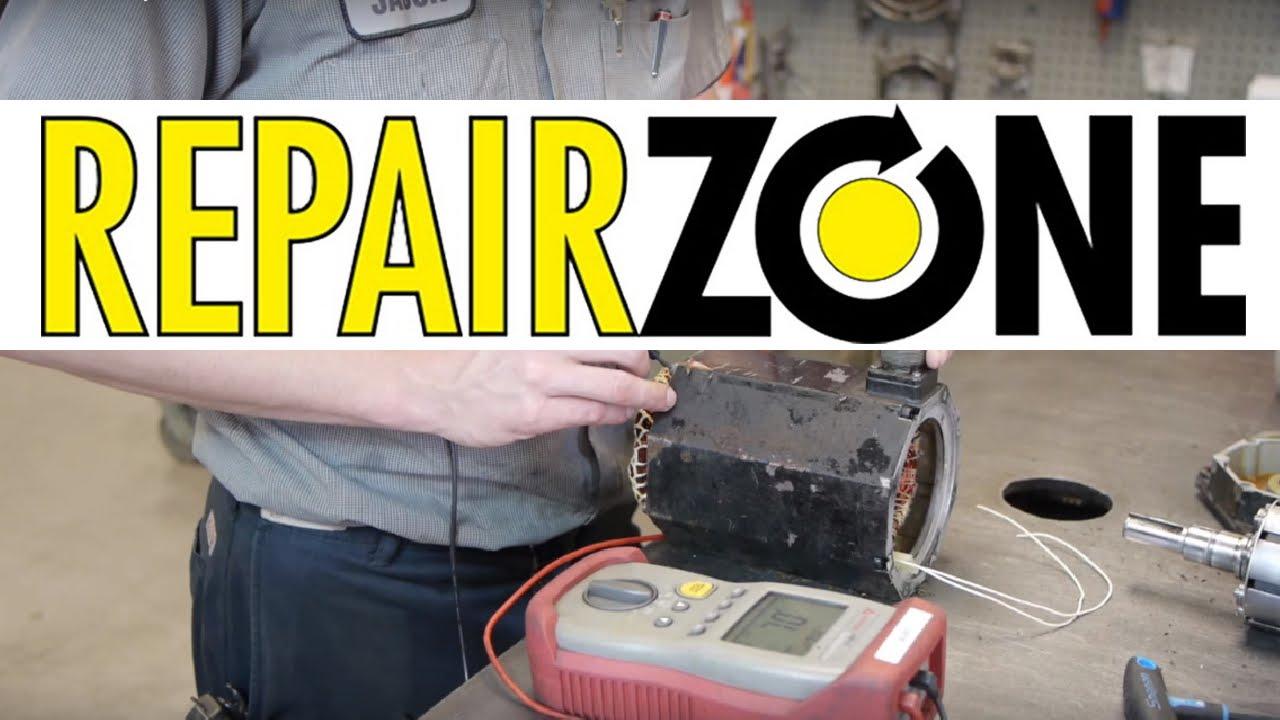 Servo motor repair process at repair zone for Zone damper motor repair