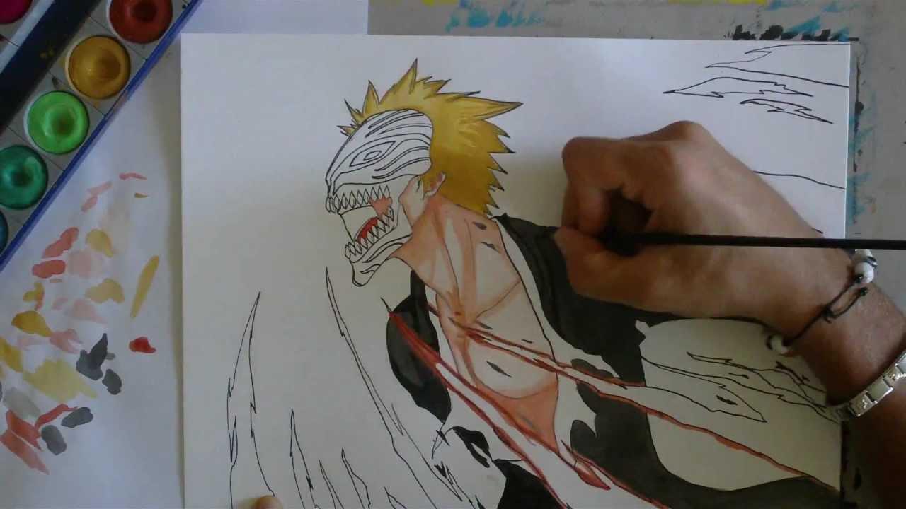 How To Draw Ichigo Hollow -Bleach-