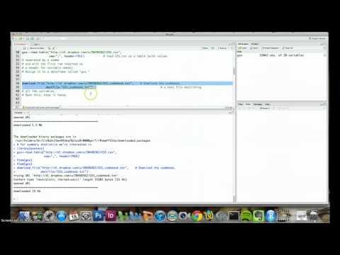 Intro to R Studio and Basic Descriptive Statistics