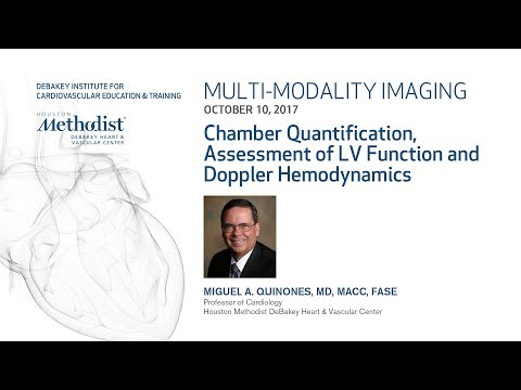 Chamber Quantification, Assessment of LV Function & Doppler Hemodynamics (M. QUINONES, MD) 10/10/17