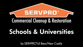 Commercial Cleanup & Restoration - Schools & Universities