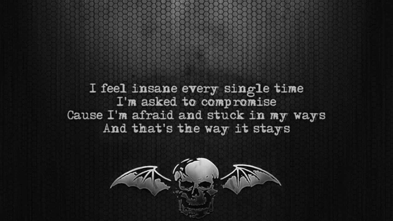Avenged Sevenfold - Almost Easy Lyrics - YouTube