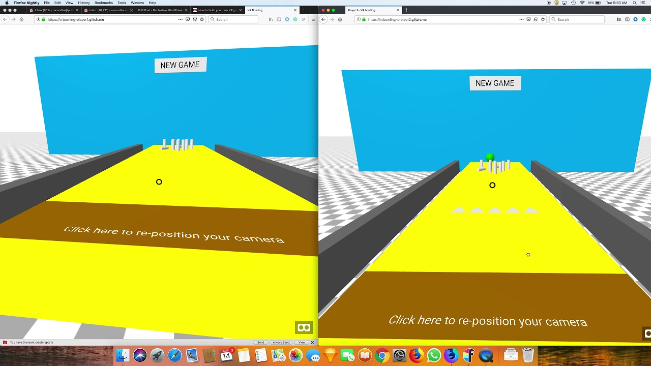 Build a Multiplayer Browser-based VR Game with A-Frame