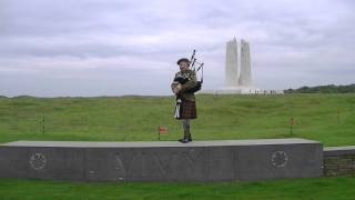 the Bagpipes at Vimy Ridge. 2011