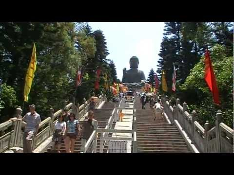 Visiting the Statue of Giant Buddha, Lantau Island, Hong Kong