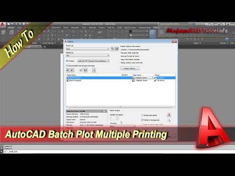 Autocad How To Batch Plot Multiple Printing